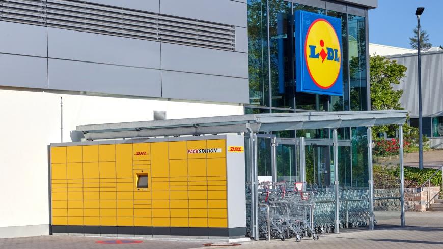 Lidl und DHL-Packstation