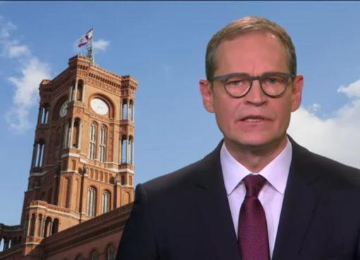 Der Regierende Bürgermeister Michael Müller am 16. März 2020 zur Corona-Krise
