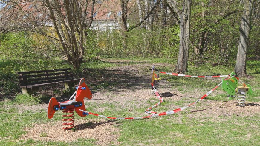 Spielplatz gesperrt