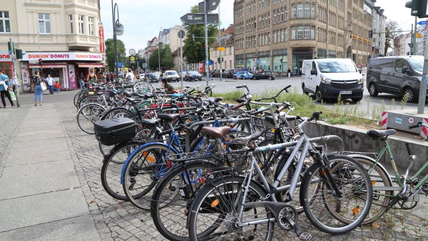 Fahrrad-Abstellfläche
