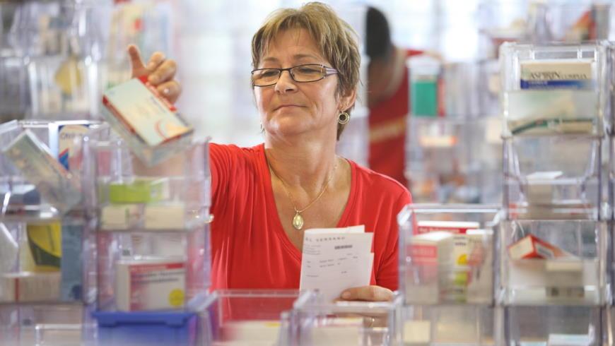 Medikamenten-Kommissionierung in Versandapotheke